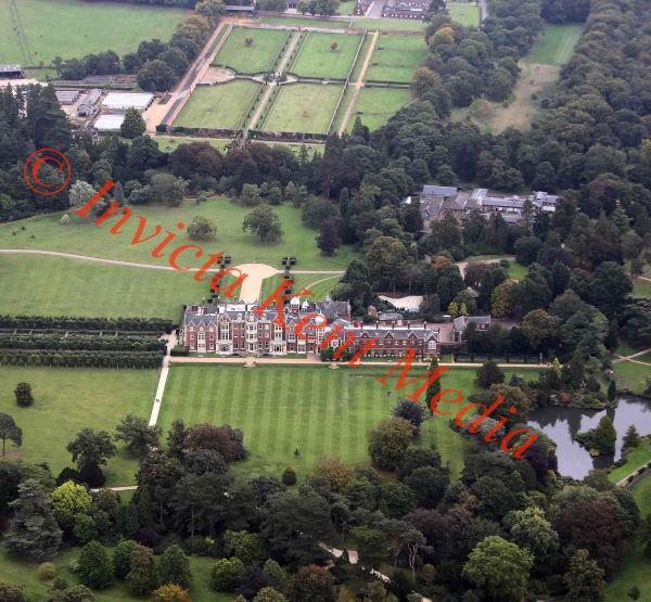 PICS SHOWS; Aerial Views of the Sandringham Estate Sandringham Church inside the grounds of Sandringham House