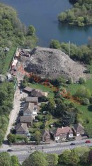 PICS SHOWS;Aerial pics of the Waste Recycling Centre in Sidcup Kent Near the A20