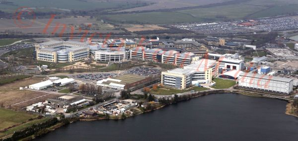 PIC SHOWS:-Aerial views of the Pfizer site, near Sandwich, Kent