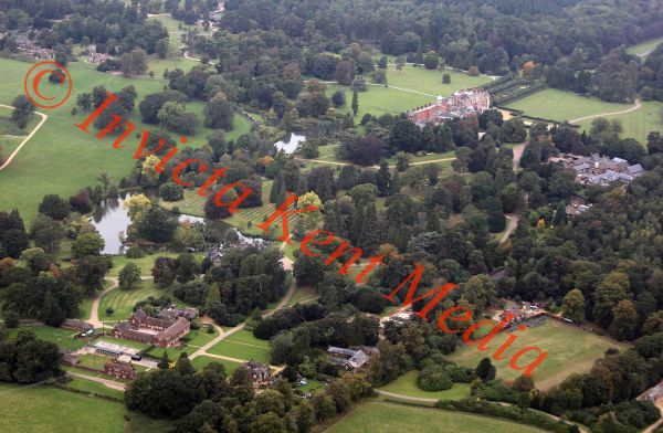 PICS SHOWS; Aerial Views of the Sandringham Estate Sandringham house and Surrounding Countryside