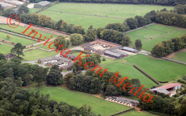 PICS SHOWS; Aerial Views of the Sandringham Estate The Queens Stud Near Sandringham House