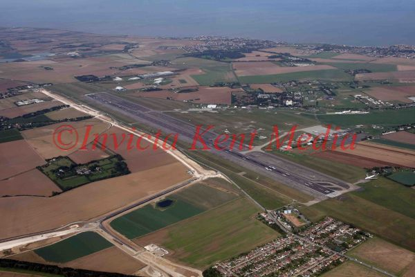 PIC SHOWS:- Aerial view of Manston airport, Kent