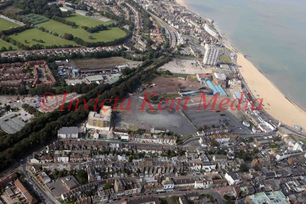 PIC SHOWS:- Aerial view of Dreamland in Margate