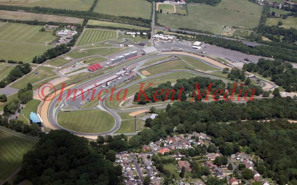 PIC SHOWS: Aerial pic of the Indy circuit at Brands Hatch, Kent