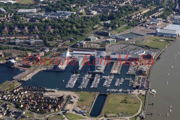 PIC SHOWS:- AERIAL VIEW OF CHATHAM MARINA, CHATHAM, KENT