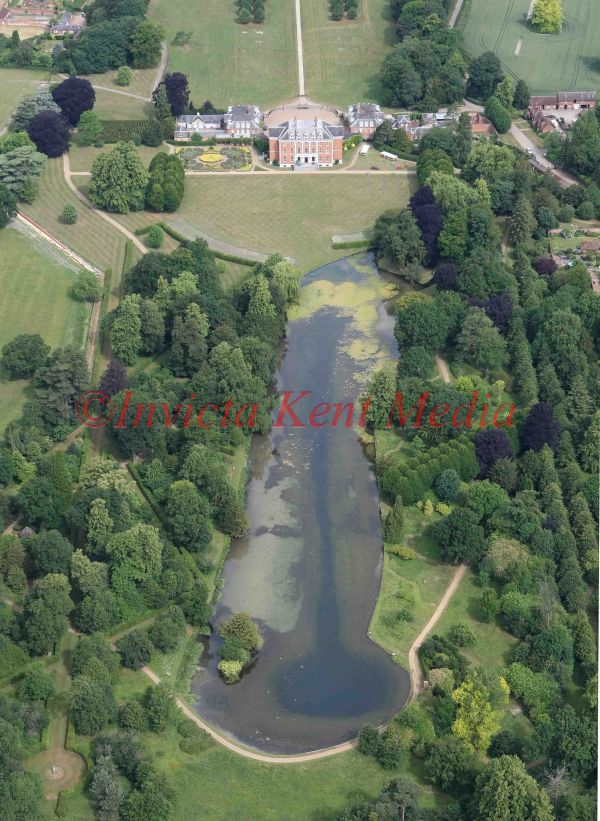 PIC SHOWS:- An aerial view of Chevening House, weekend residence of the Foreign Secretary