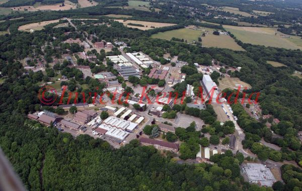 PIC SHOWS:- An aerial view ofFort Halstead, a research site of DSTL, an executive agency of the MOD.
