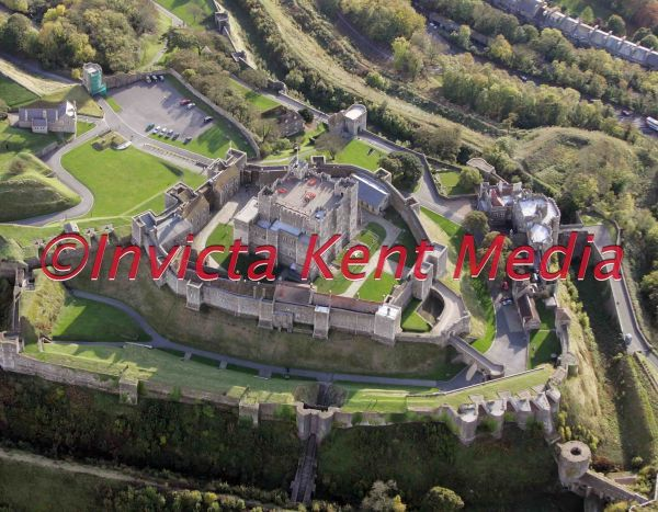 Aerial pic of Dover Castle