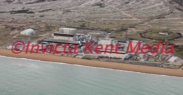 aerial pic of the nuclear power stations at Dungeness, Kent
