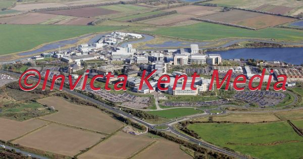 aerial pic of the Pfizer complex near Sandwich, Kent
