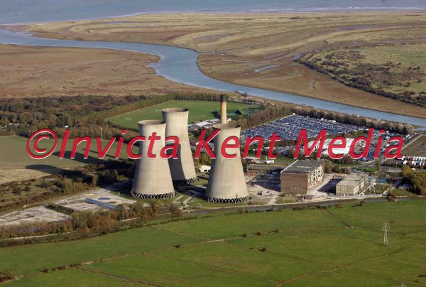 aerial pic of Richborough power station near Sandwich in Kent