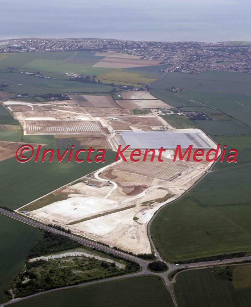 PIC SHOWS. aerial shots of Thanet Earth greenhouse site at Birchington, kent
