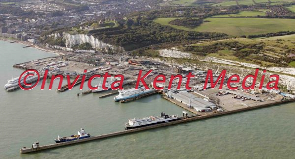 Aerial pic of Dover docks