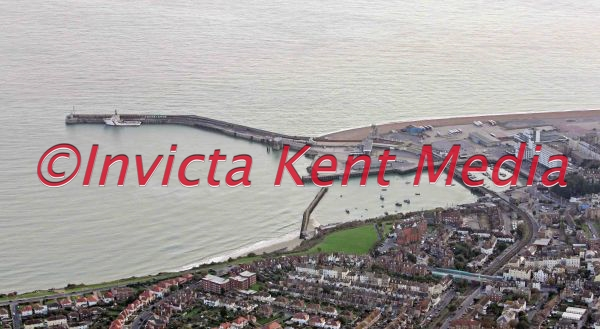 aerial pic of Folkestone harbour, Kent