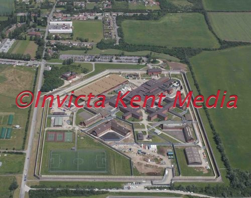 PIC SHOWS. aerial shots of HM Prison Swaleside, Sheerness, Kent