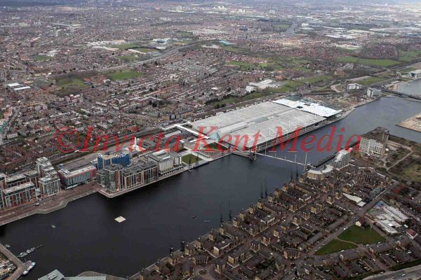 PIC SHOW;EXCEL CENTRE IN LONDON FROM THE AIR;G20 SUMMIT AT THE EXCEL CENTRE 2ND APRIL