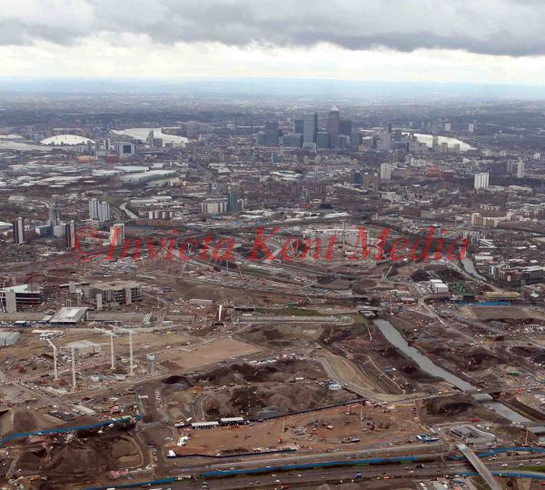 PIC SHOW;AERIAL VIEWS OF THE OLYMPIC SITE 26/3/09