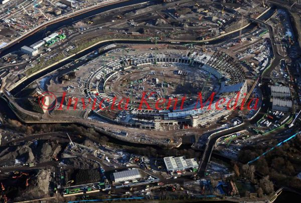 PIC SHOWS ;AERIAL PICS TAKEN 6/1/09 OF THE NEW OLYMPIC SITE AND STADIUM