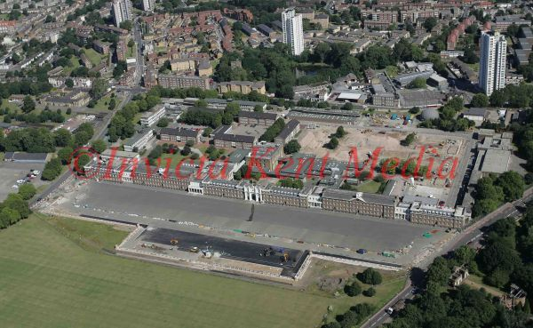 PIC SHOWS:- Aerial view of the Woolwich Barracks, London