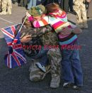 PIC SHOWS ;THE ARGYLL AND SUTHERLAND HIGHLANDERS ,5TH BATTALION THE ROYAL REGIMENT OF SCOTLAND  AND ELEMENTS OF THE PRINCESS OF WALES REGIMENT RETURN TODAY FROM AFGHANISTAN TO HOWE BARRACKS ,CANTERBURY KENT;WELCOMED BY THEIR FAMILY.