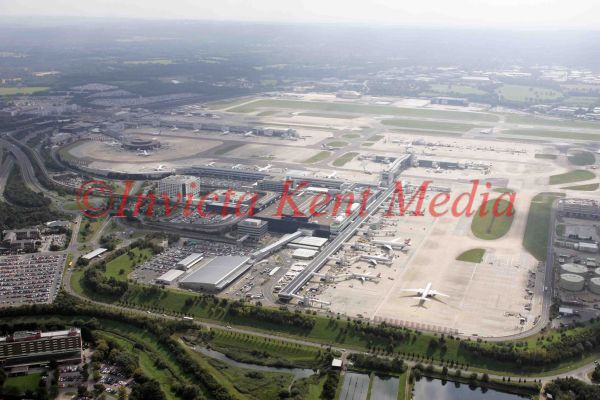 PIC SHOWS:- AERIAL VIEW OF GATWICK AIRPORT