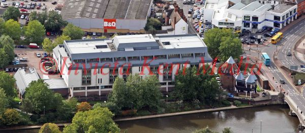 PIC SHOWS:- Aerial view of Maidstone Crown Court, Maidstone, Kent