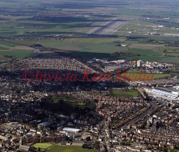 PIC SHOWS;aerials kent views. The edge of Ramsgate looking towards Manston International airport
