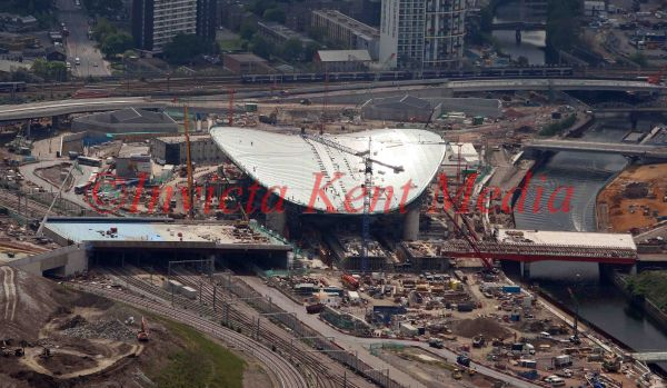 PIC SHOWS:- AERIAL PIC OF OLYMPIC AQUATIC CENTRE