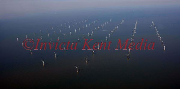 PICS SHOW;THE WIND FARM OF THE COAST OF RAMSGATE IN KENT.
