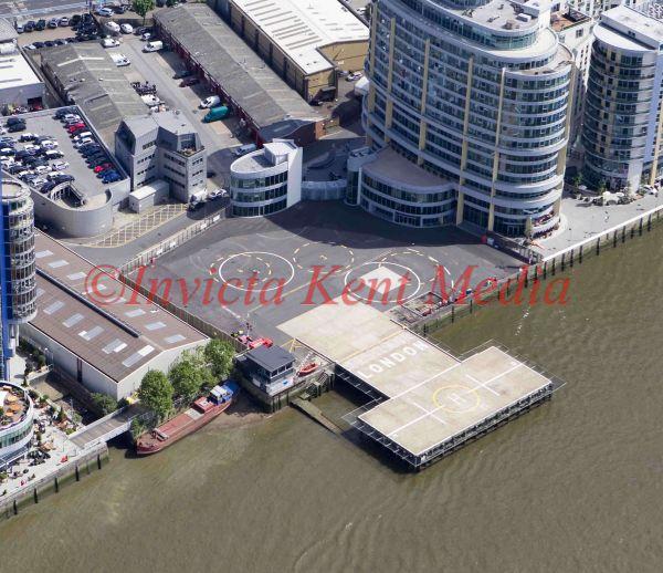 Aerial pic of Battersea Heliport