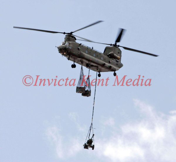 PIC SHOWS:-The CH-47 Chinook Helicopter