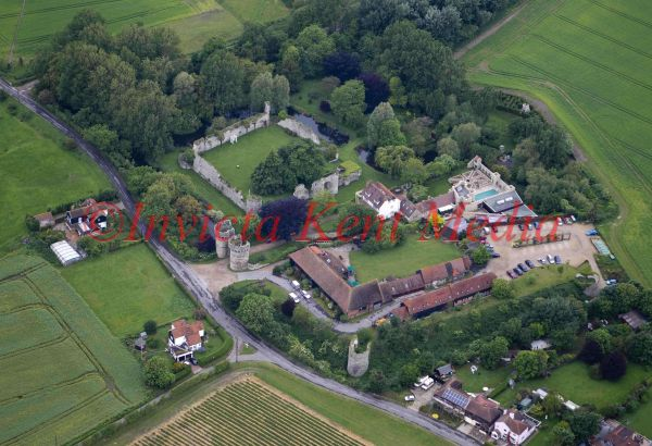 Aerial photo of Cooling Castle, Kent