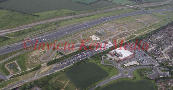 Aerial photo of Cyclopark, near Gravesend, Kent.