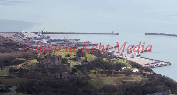 PIC SHOWS;aerials kent views. DOVER CASTLE AND PORT