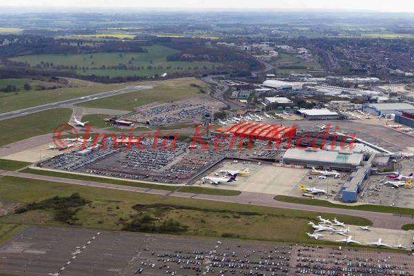 Aerial photos of Luton airport, UK