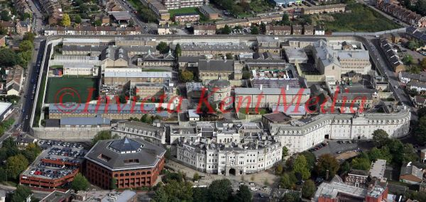 PIC SHOWS:- Aerial view of Maidstone Prison, Maidstone, Kent