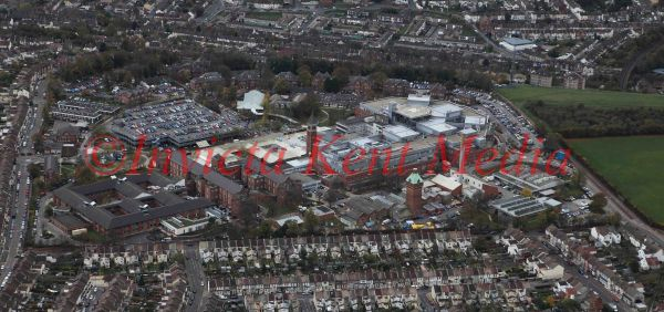 PIC SHOWS: AERIAL VIEW OF MEDWAY HOSPITAL, KENT