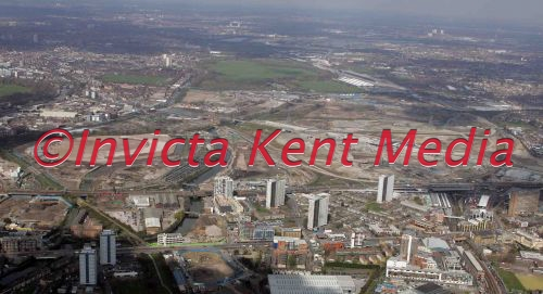 PIC SHOWS;AERIAL PIXS OF LONDON OLYMPIC SITE