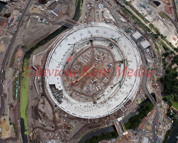 PIC SHOWS ;AERIAL PICS OF THE OLYMPIC SITE TAKEN 23/7/09