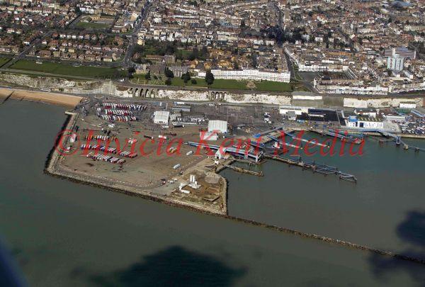 PIC SHOWS;aerials kent views. RAMSGATE PORT