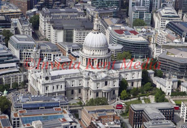 Aerial photo of St Pauls Cathedral, London, UK