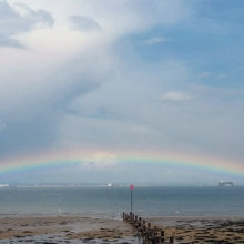 Terry Harlow Rainbow over the Solent M6