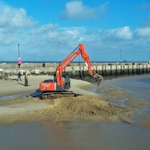 Terry Harlow  removing the sand bar M6
