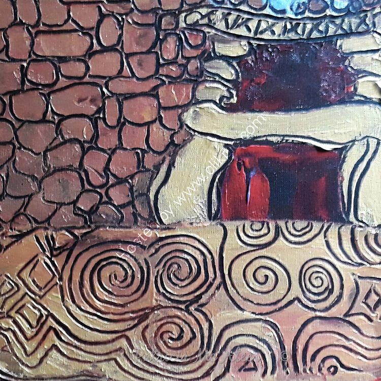 Red gold matchstick Newgrange
