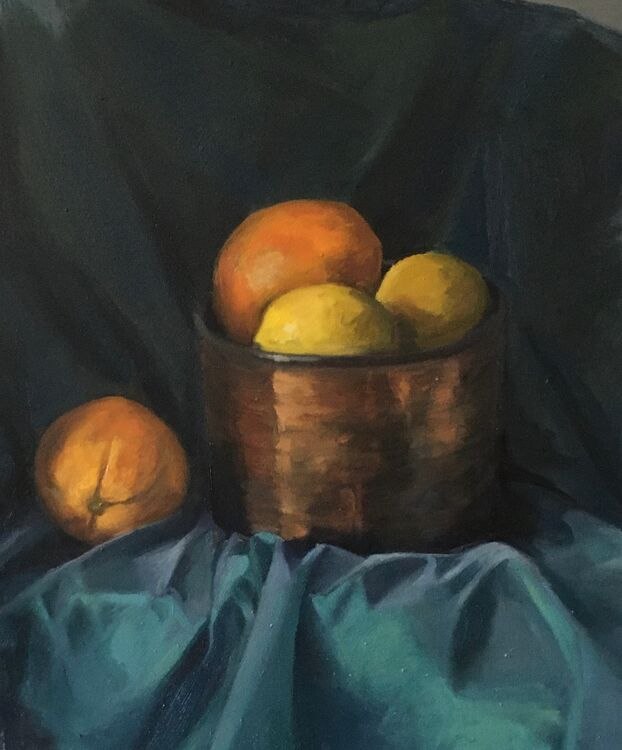 Oranges and Lemons - Oil on Board £300