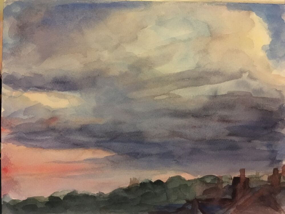 Sunset, Gipsy Hill - watercolour on paper £120