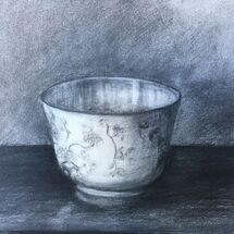 China bowl - charcoal on paper £100
