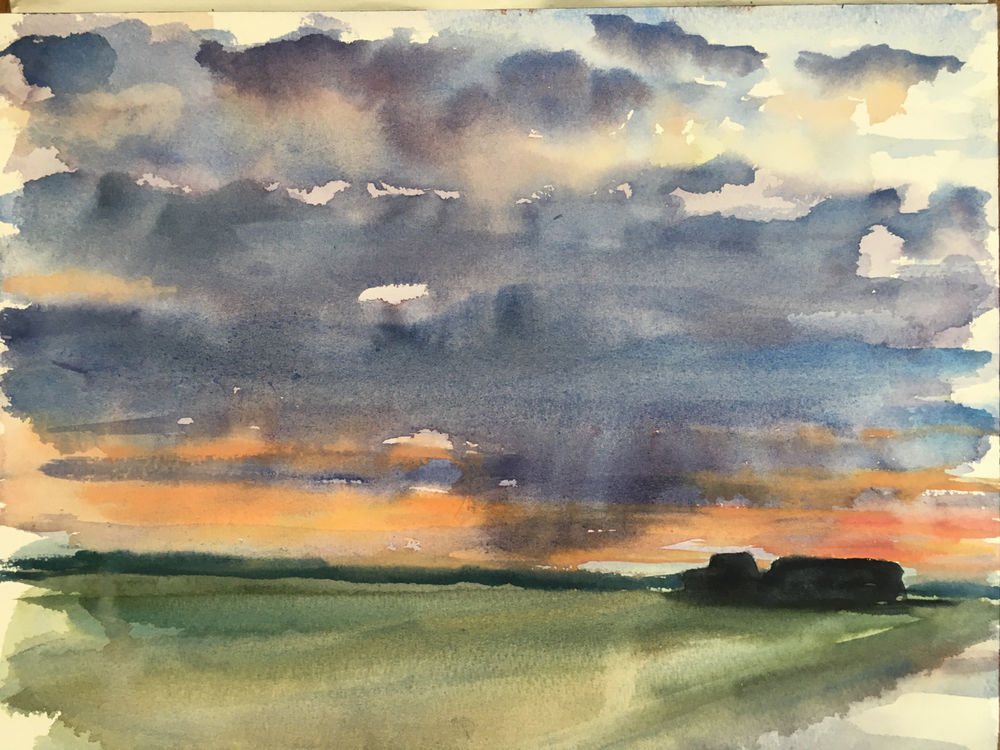 Walberswick, late evening over the huts. £200