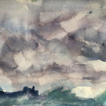 Stormy skies over Walberswick