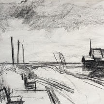 Sketch - Towards the sea, Southwold Harbour